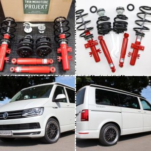 Comfort Coilovers for VW T5 and T6