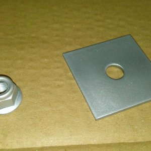 backing plate and nut