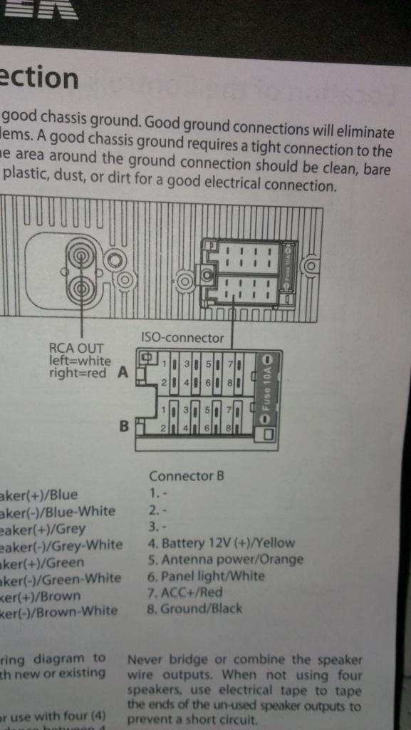 Help Please Wiring For Stereo Vw T4 Forum Vw T5 Forum