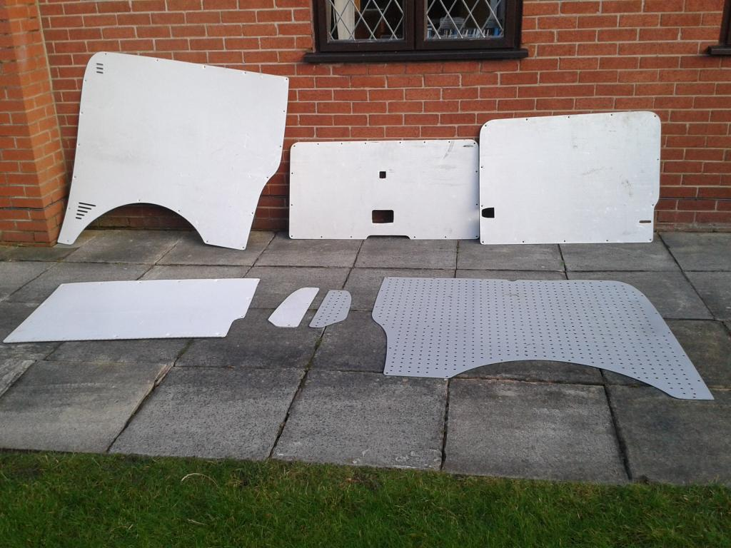van ply lining templates - plastic panels for lwb t5 ideal as templates for ply