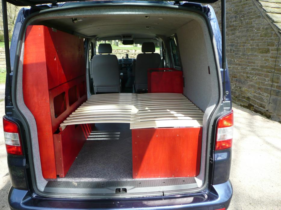 Homemade Wooden Bed Vw T4 Forum Vw T5 Forum
