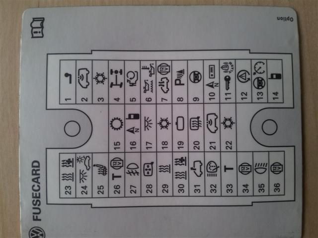 Fuse Box Diagram Page 4 Vw T4 Forum Vw T5 Forum