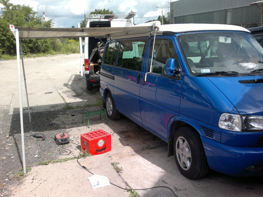 2002 Blue T4 Multivan Lhd Vw Forum T5 Tow Bar Wiring Finished 2hrs Before Leaving For The Ferry To Sweden