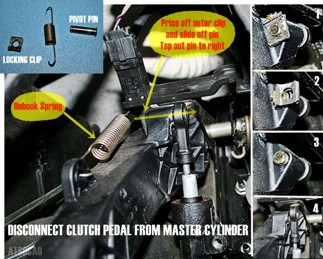 HOW TO - Remove and repair the pedal box, clutch - VW T4