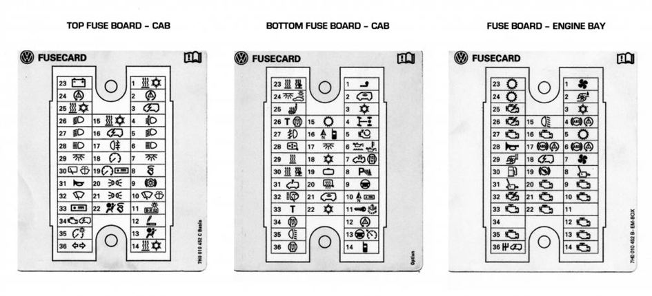Fuse Panel Vw Transporter : T electric window fuse location vw forum