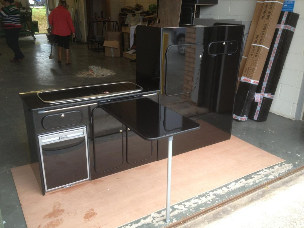 Gloss Black Hpl Vohringer Cabinets From Llanelwy Vw T4