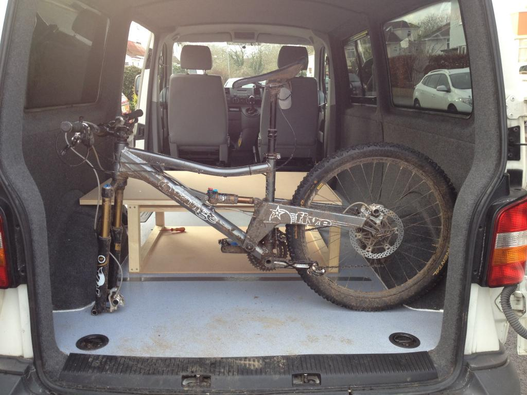 I Wanted To Be Sure The Bed Would Fit Where It Allowing Space Behind Seat For Mountain Bikes When Driving So Put My Bike In Check