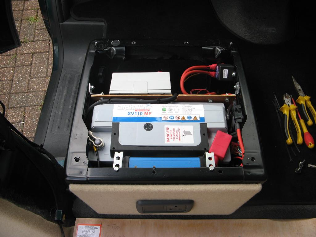 Fitting of leisure battery under seat vw t forum