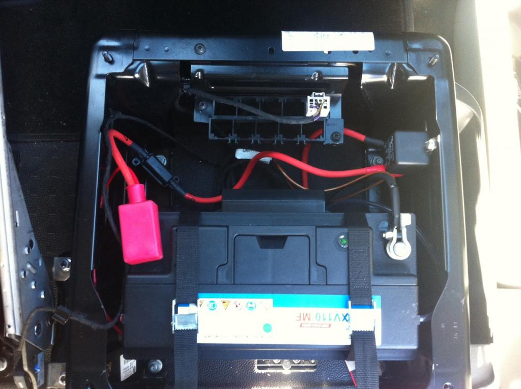 anyone installed a leisure battery under the drivers seat. Black Bedroom Furniture Sets. Home Design Ideas
