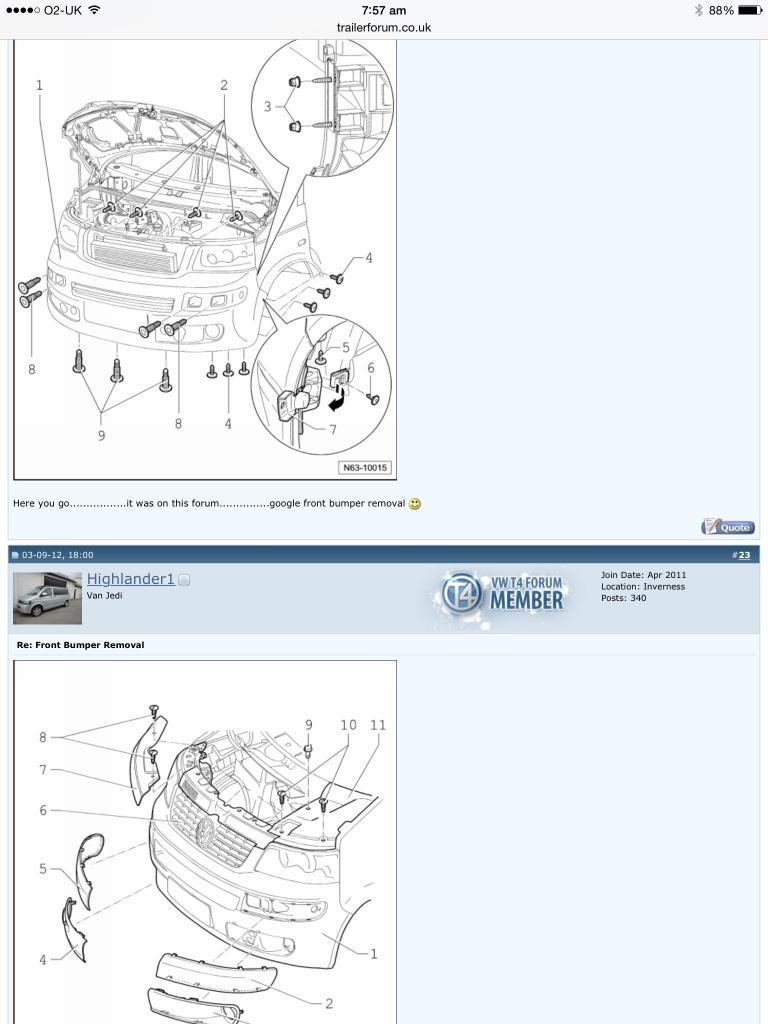 T5 1 bumper removal - VW T4 Forum - VW T5 Forum