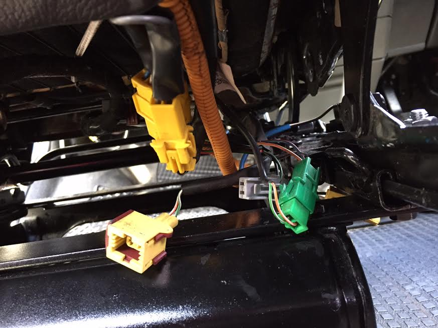 some useful research on one of the saab forums indicated that the heated seat  wires were as follows: