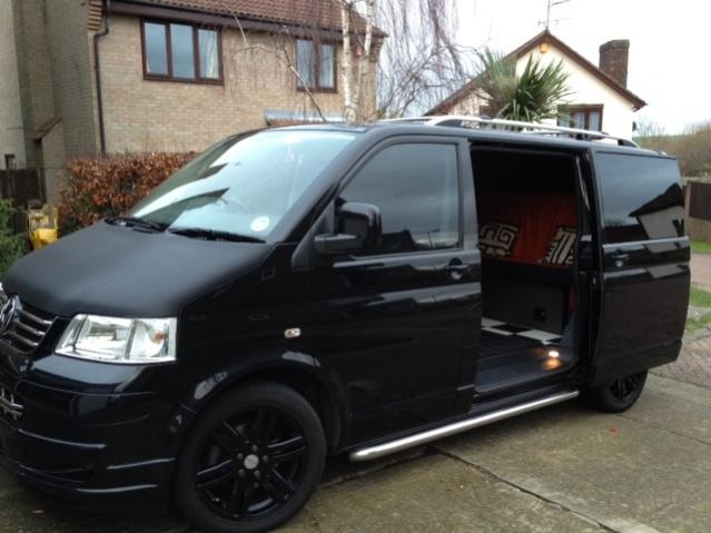 VW T5 Sportline black stealth camper 174 - VW T4 Forum ...